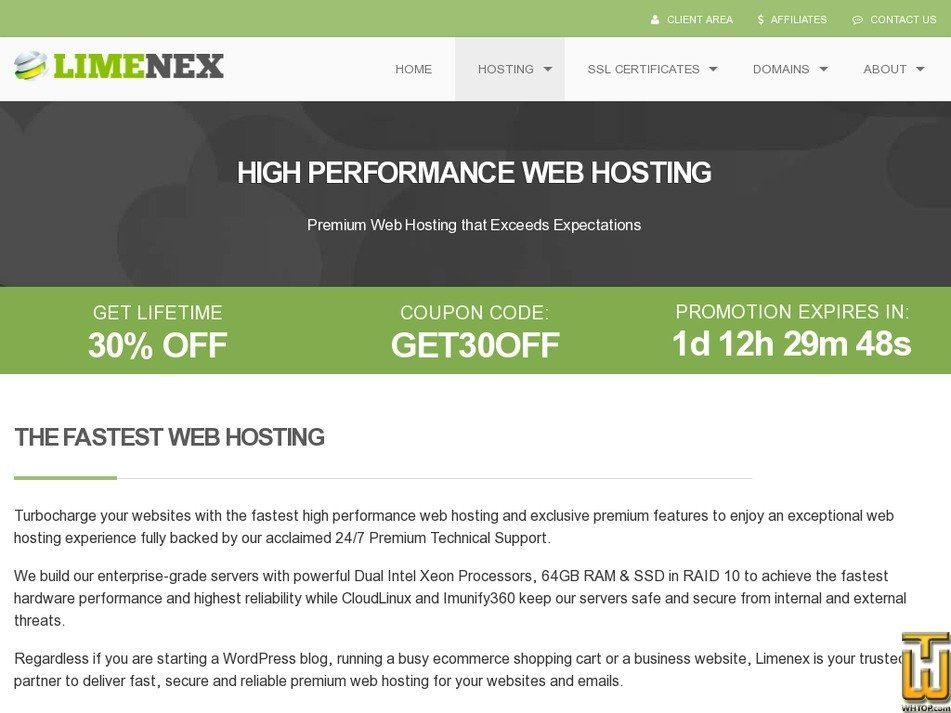 Screenshot of ECONOMY from limenex.com