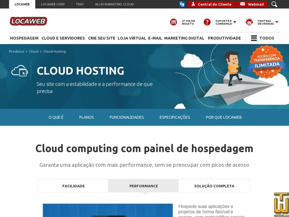 Screenshot of Cloud Hosting III from locaweb.com.br