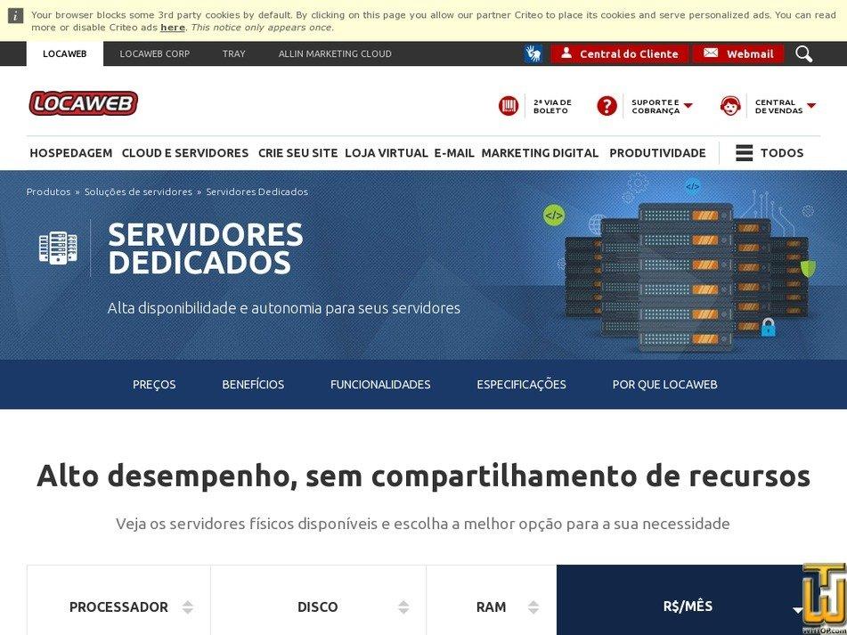 Screenshot of Intel l5.630 1x4 core de 2.13 ghz from locaweb.com.br