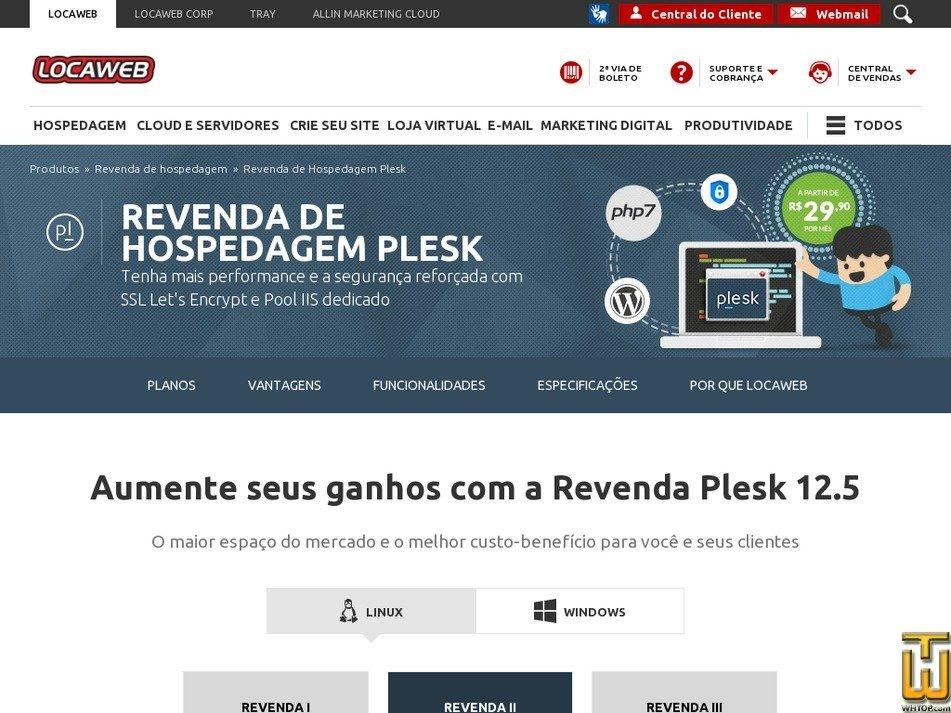 Screenshot of Revenda II - Plesk from locaweb.com.br