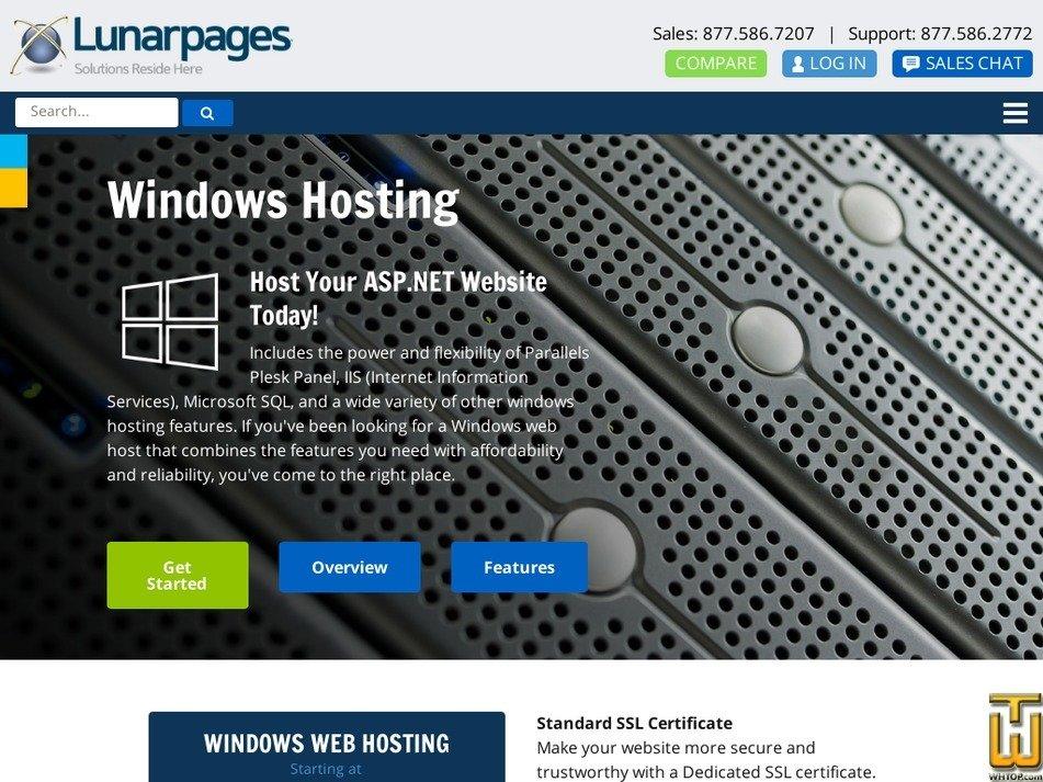 Screenshot of Windows from lunarpages.com