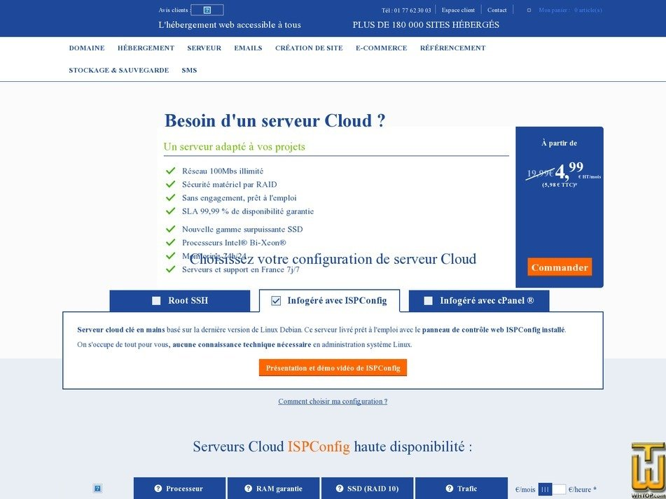 screenshot of CLOUD L from lws.fr