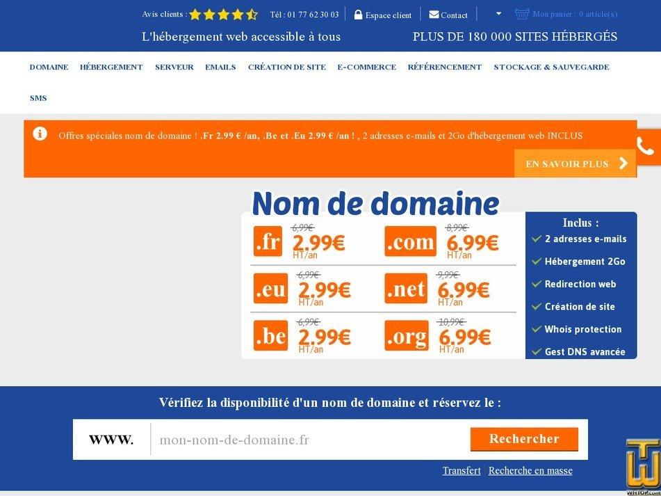 Screenshot of .com .net .org from lws.fr