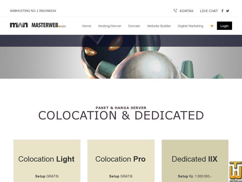 Screenshot of Dedicated IIX from masterweb.com