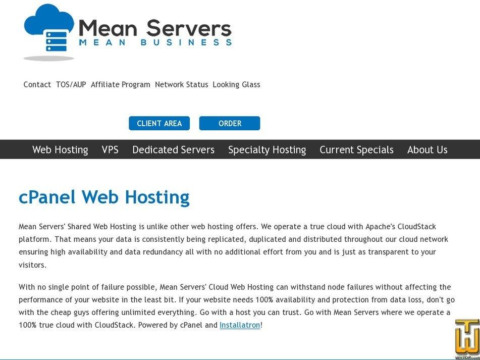 Screenshot of Starter from meanservers.com