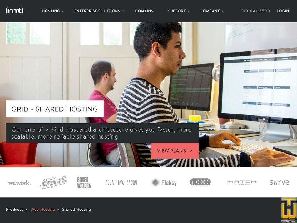 Screenshot of Grid Personal from mediatemple.net