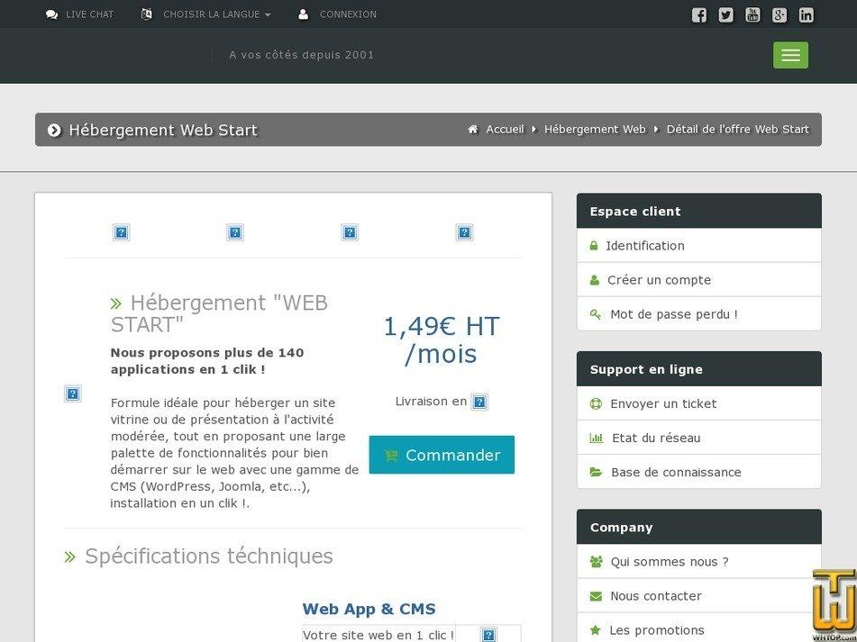 screenshot of WEB Start from mengine.fr