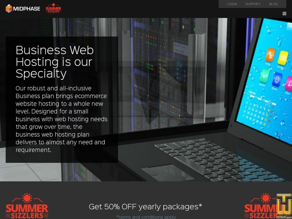 Screenshot of Business from midphase.com