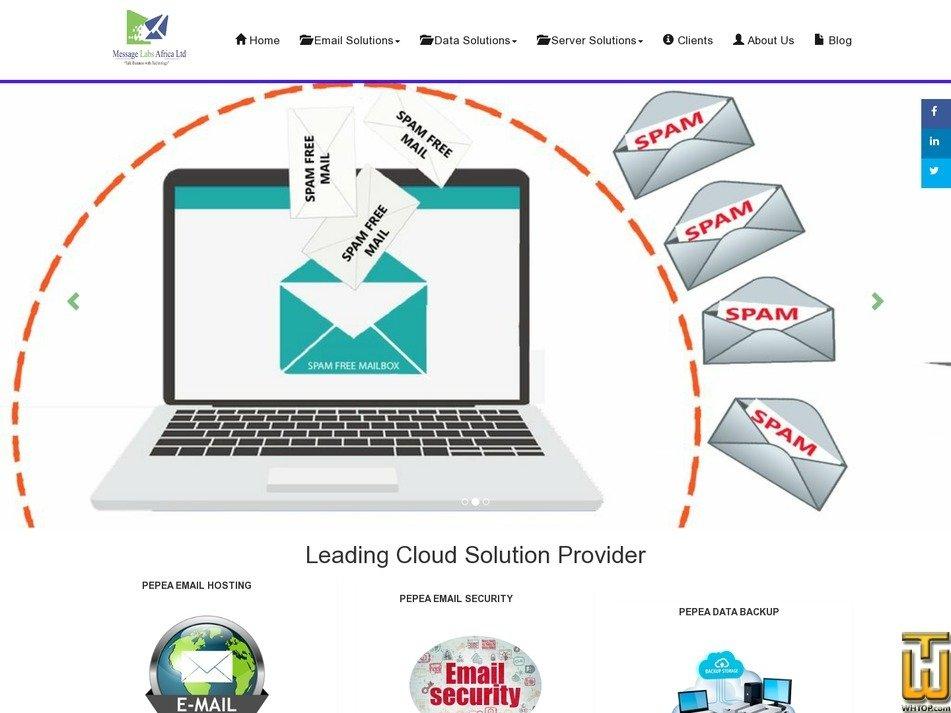 screenshot of Pepea SSL Certicates from msgafrica.com
