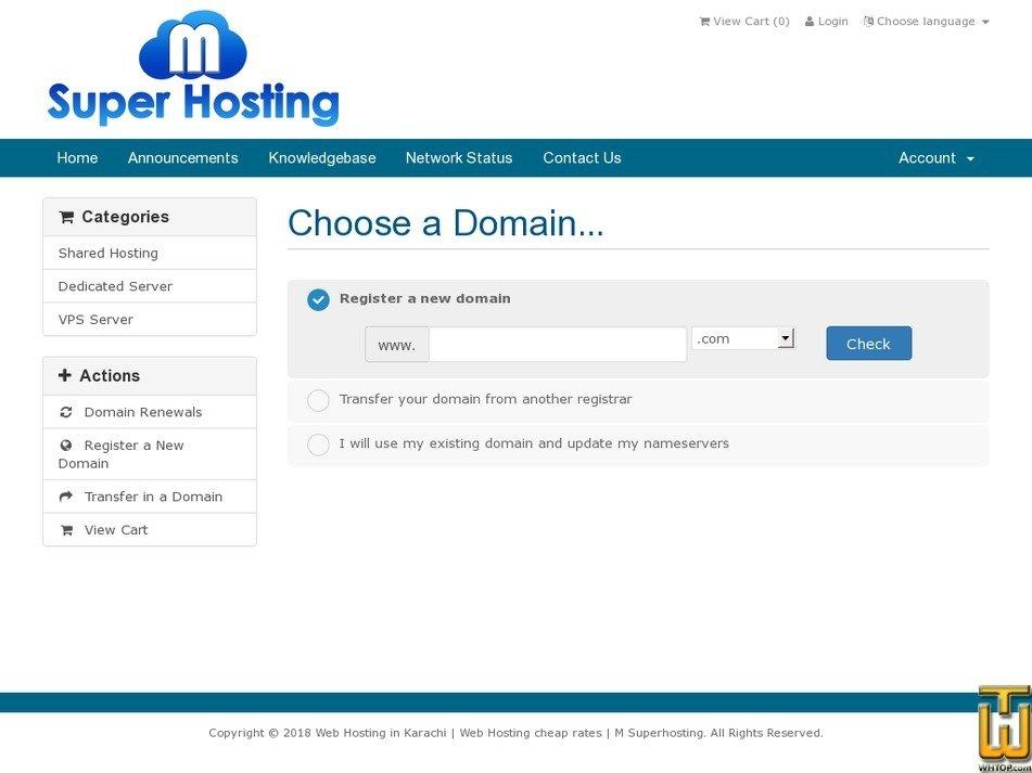Screenshot of Premium from msuperhosting.com