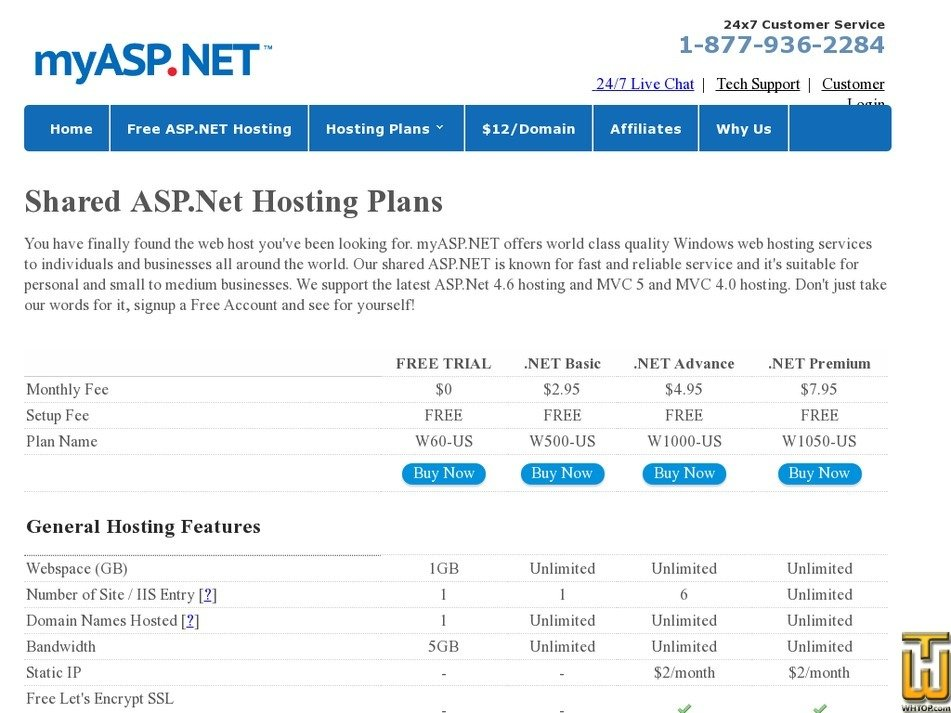 Screenshot of W500-US .NET Basic from myasp.net