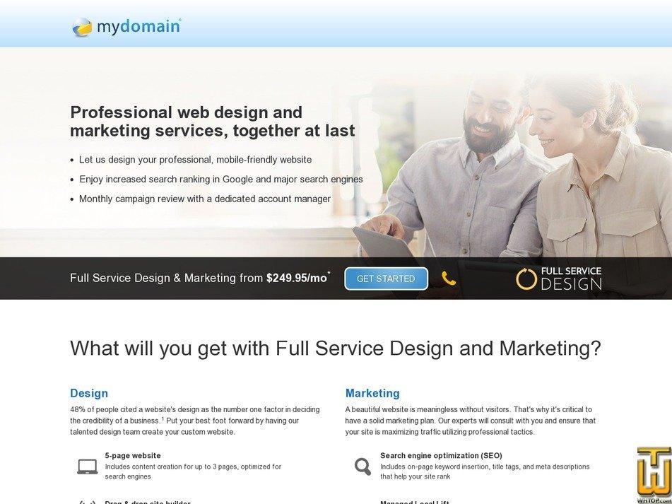 Screenshot of Full Service Design & Marketing from mydomain.com