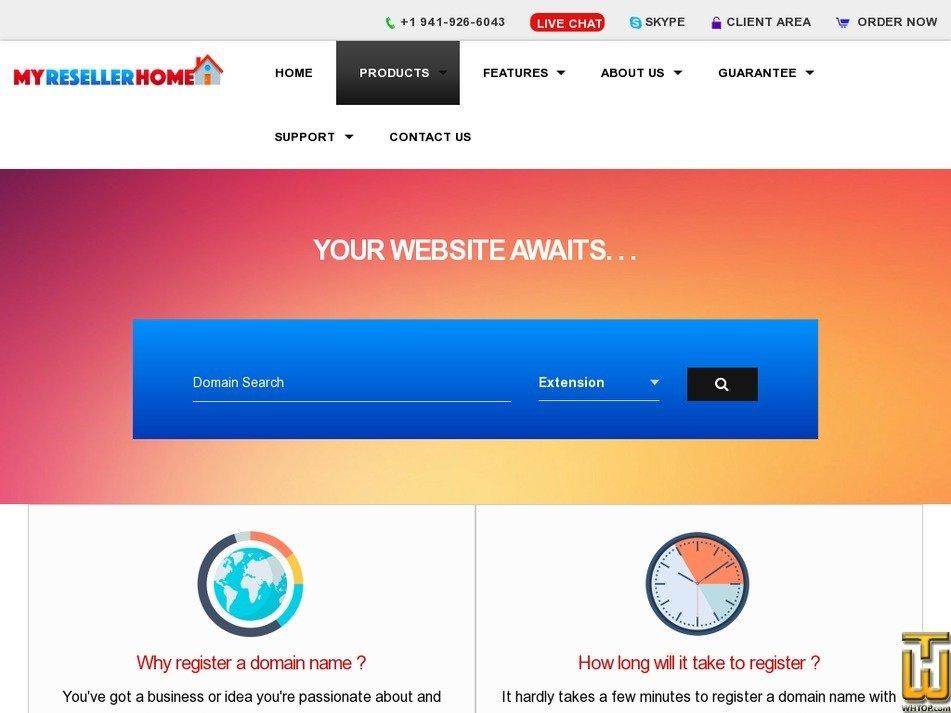 Screenshot of .com from myresellerhome.com