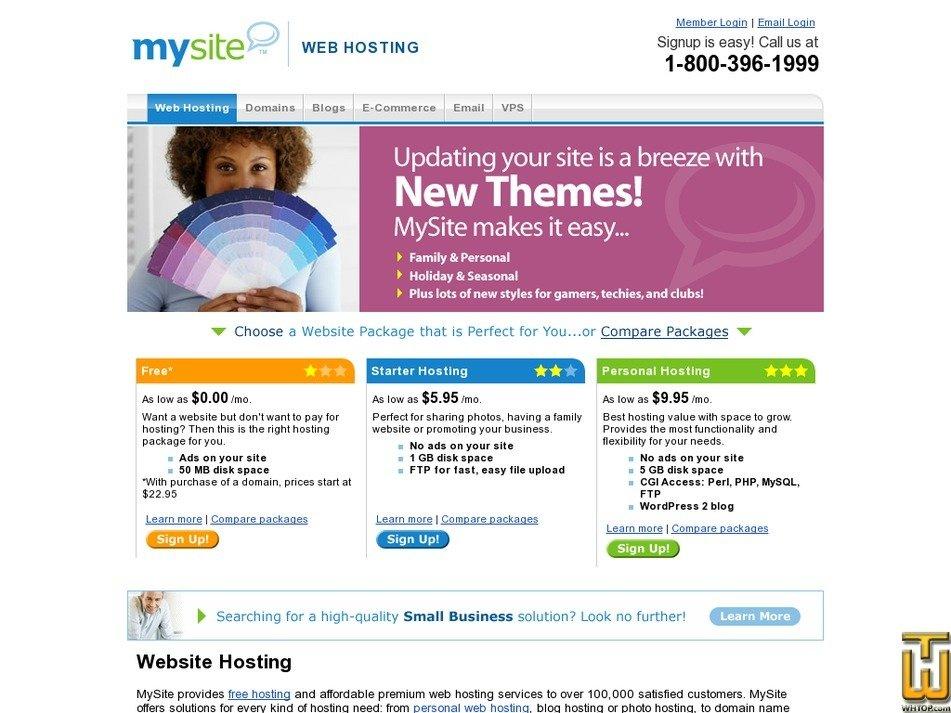 Screenshot of Free / BlogBuilder from mysite.com