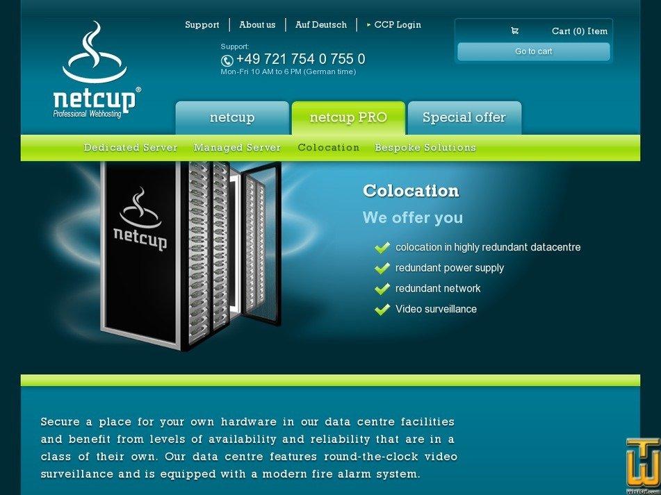 Screenshot of Basic services - Nuremberg/Frankfurt from netcup.de