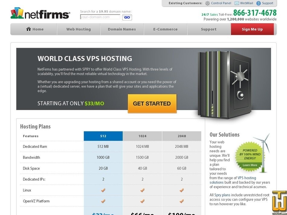 Screenshot of 1024 from netfirms.com
