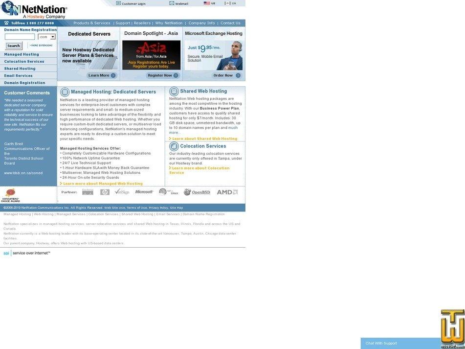 screenshot of NetNation QuickWeb Linux Package from netnation.com