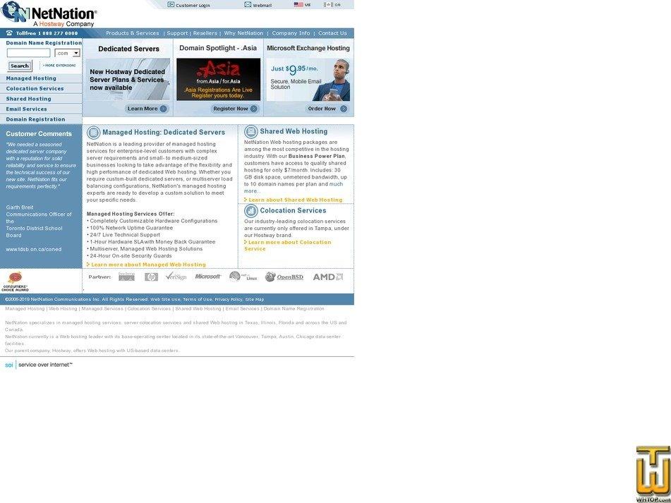 Screenshot of .com from netnation.com