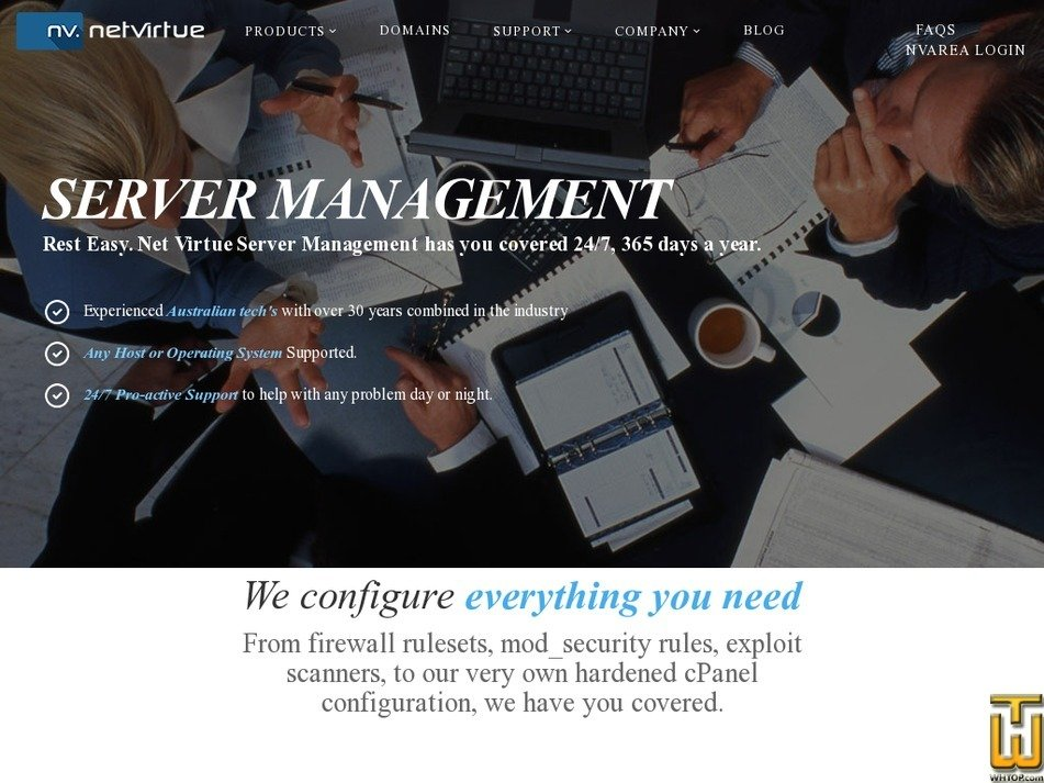 Screenshot of Enterprise Management from netvirtue.com.au