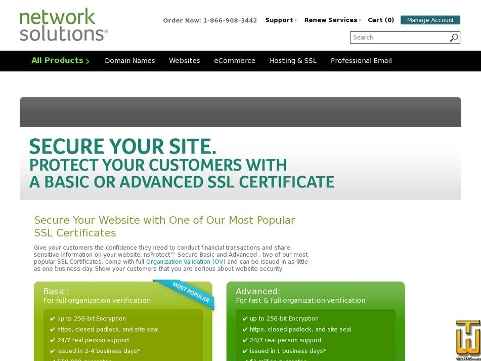 Advanced From Networksolutions 38517 On Ssl Certificates