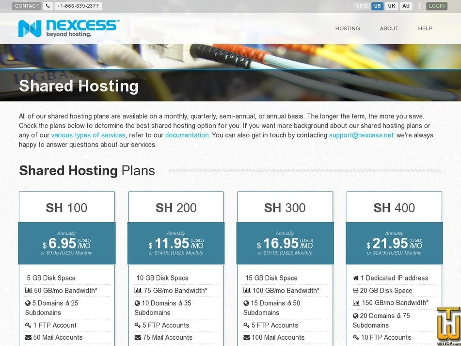 Screenshot of SH 100 from nexcess.net
