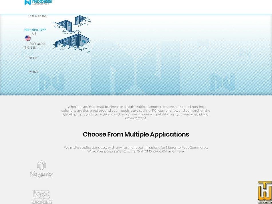 screenshot of Nexcess Cloud XS from nexcess.net
