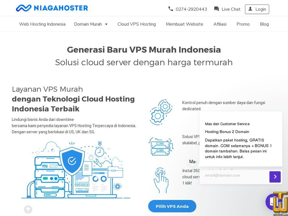 screenshot of Cloud VPS Hosting - Enterprise from niagahoster.co.id