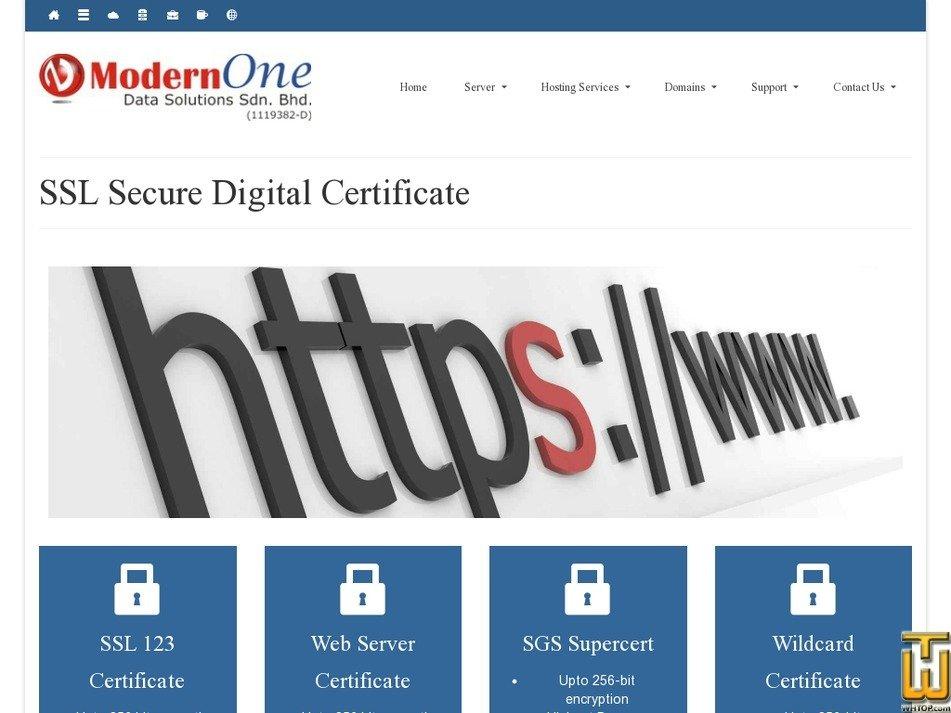 Screenshot of SSL 123 Certificate from nocser.net