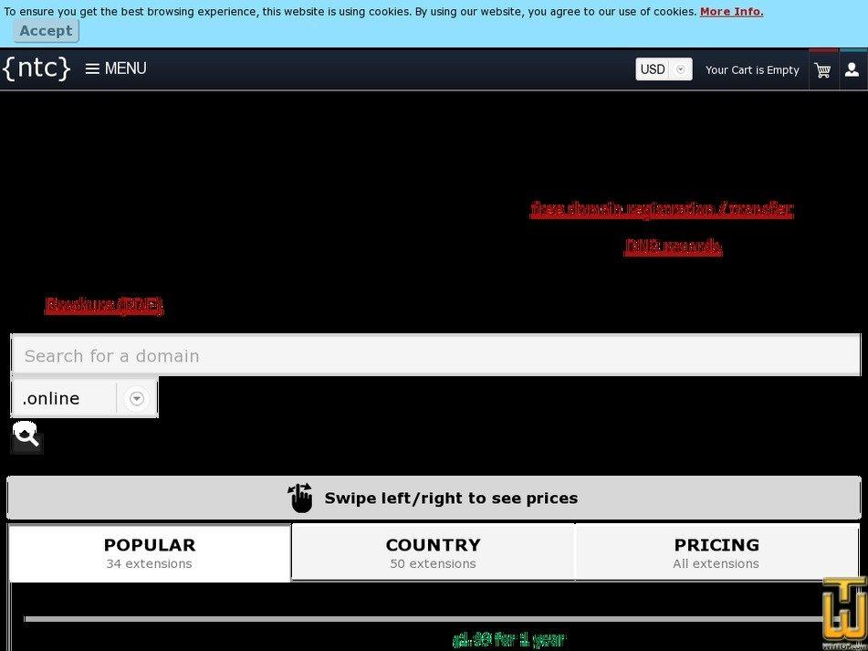Screenshot of .com from ntchosting.com