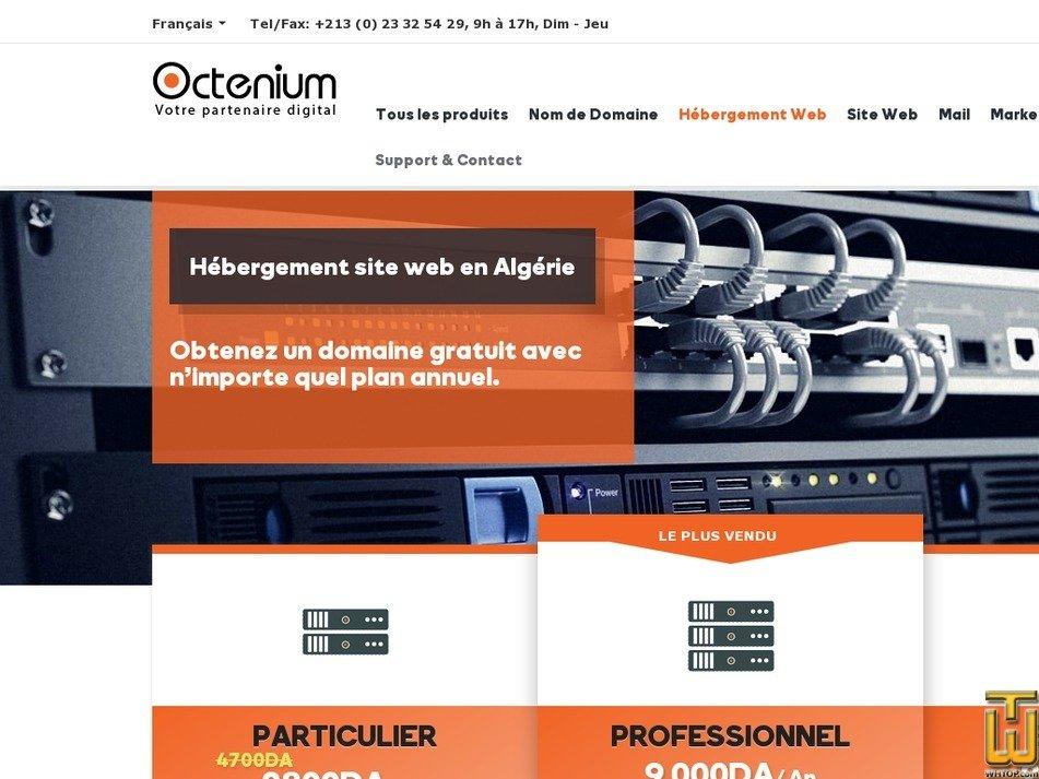 Screenshot of Particulier Promo from octenium.com