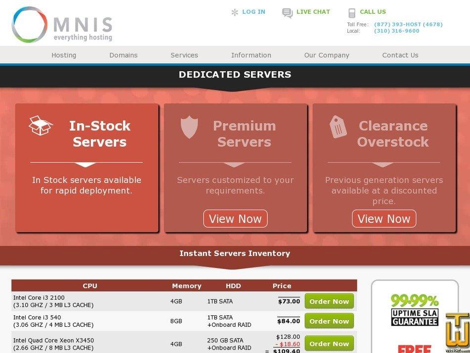 Screenshot of Dual Intel Xeon E5645 from omnis.com