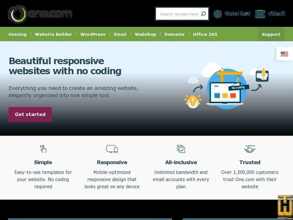 Screenshot of Webshop from one.com