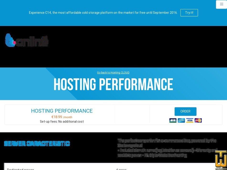 screenshot of Performance from online.net