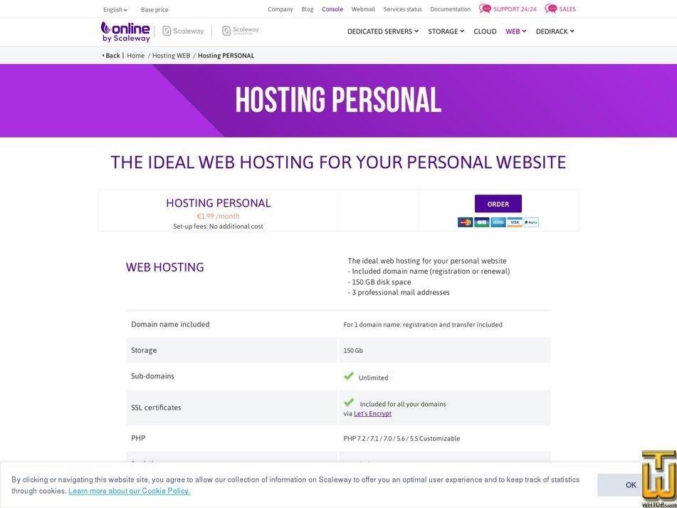Bildschirmfoto von Personal von online.net