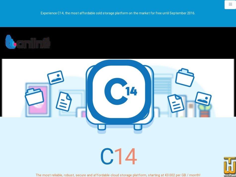 screenshot of Storage C14 Standard from online.net
