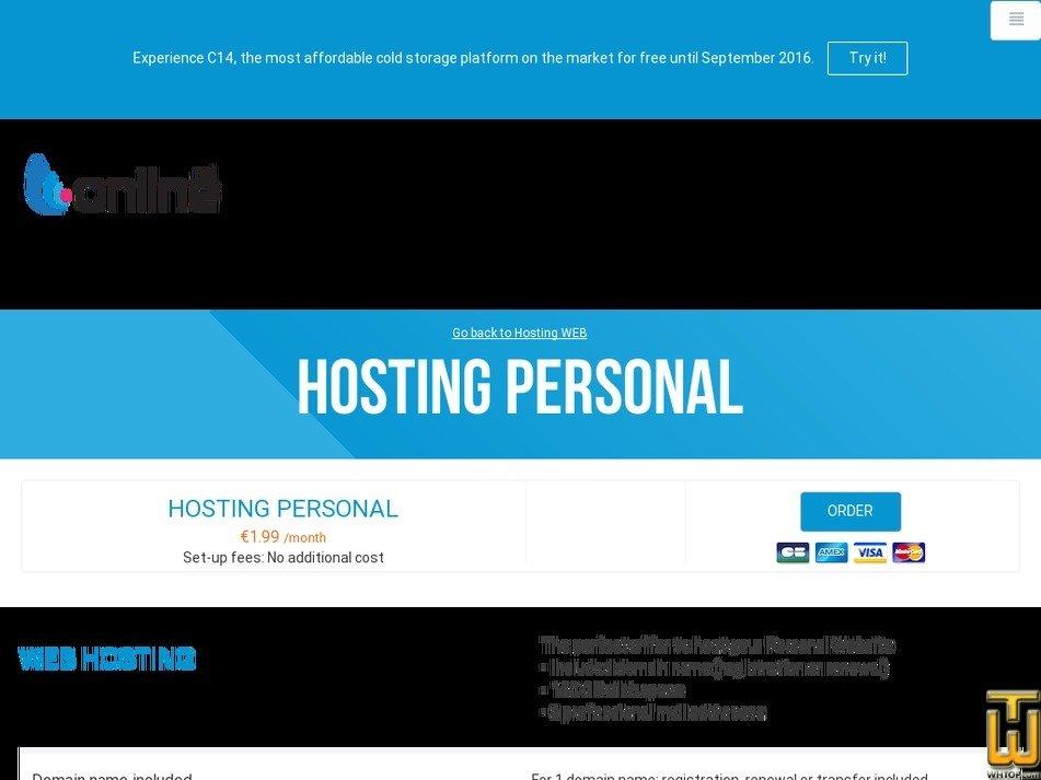 Screenshot of Personal from online.net