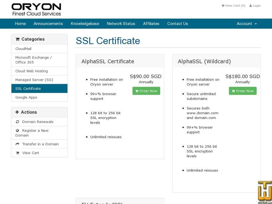Alphassl Certificate Oryon 41978 On Ssl Certificates