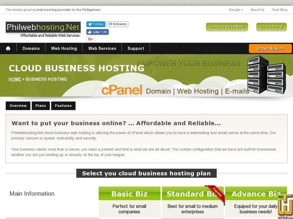 Screenshot of Basic Biz from philwebhosting.net