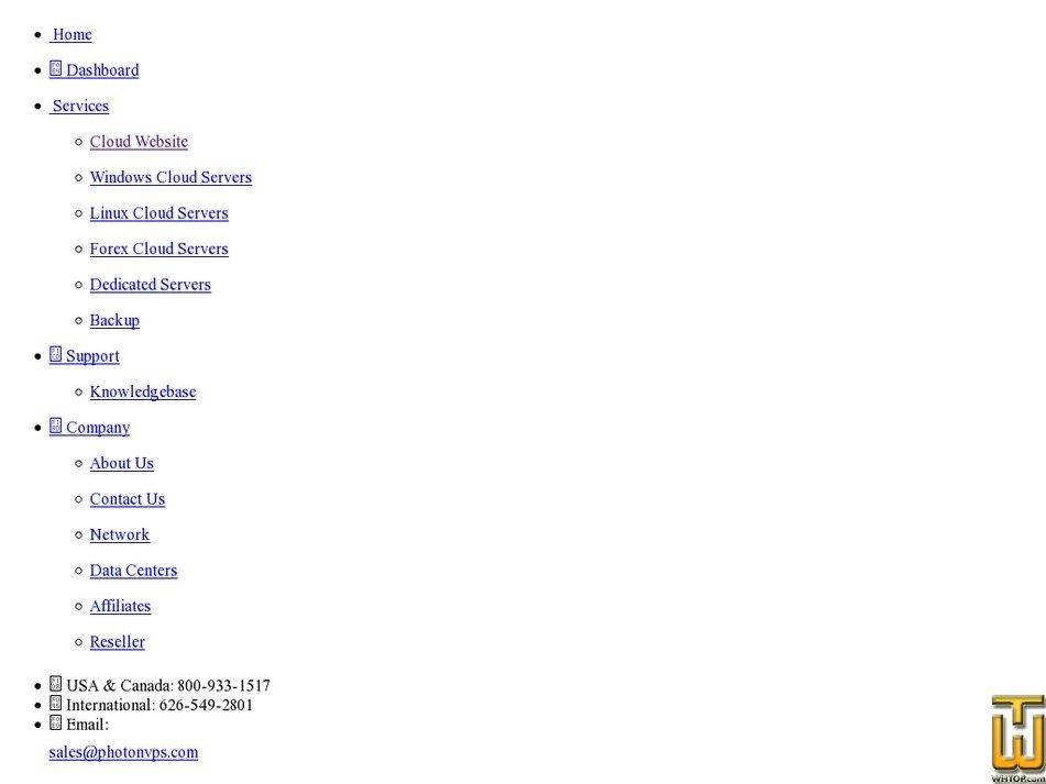 Screenshot of Free Website Hosting from photonvps.com