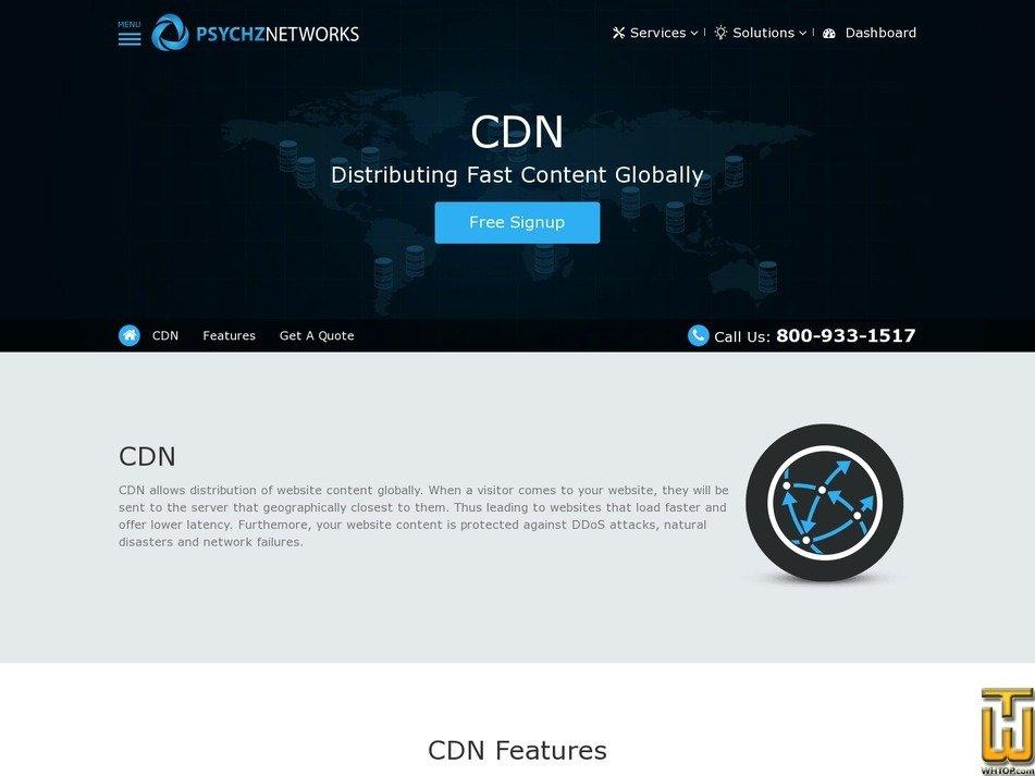 Screenshot of CDN from psychz.net