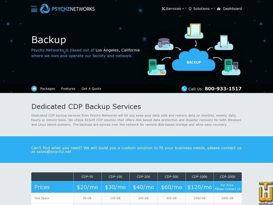 screenshot of Backup CDP-50 from psychz.net