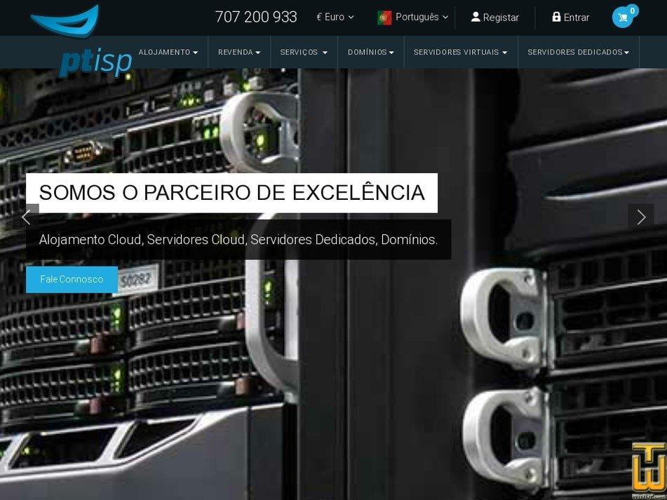 Screenshot of Initial from ptisp.pt