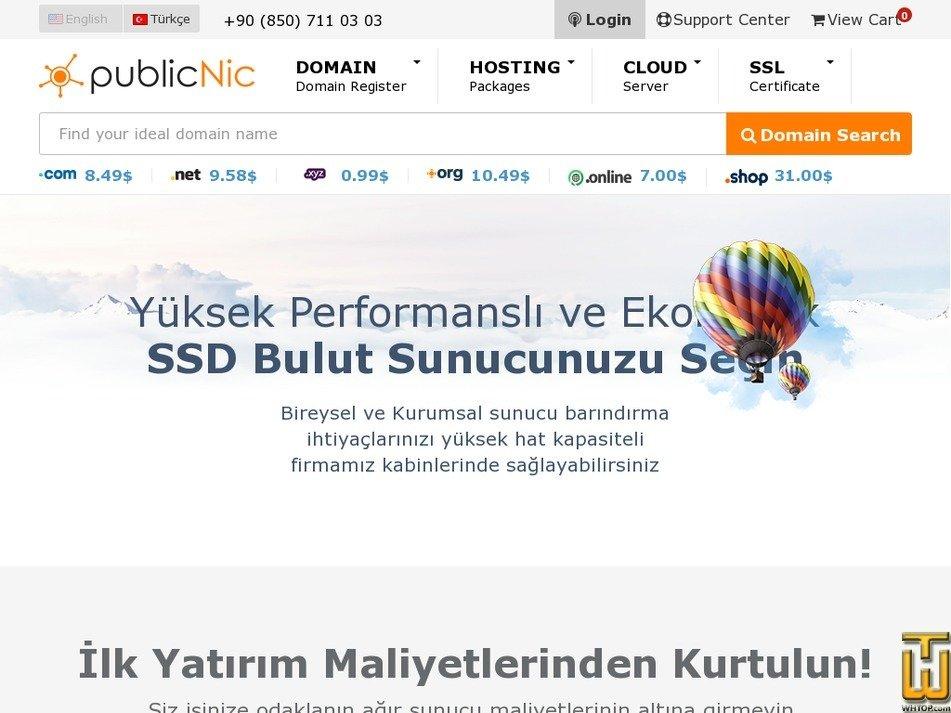Screenshot of PubliCloud L from publicnic.com