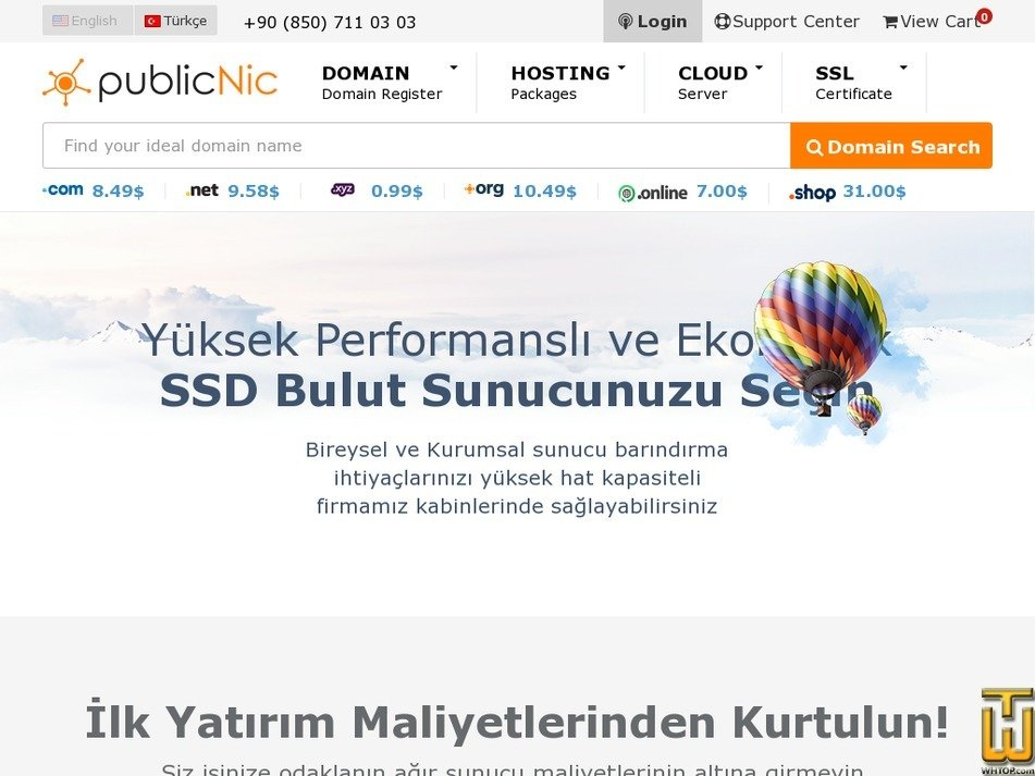 Screenshot of PubliCloud S from publicnic.com