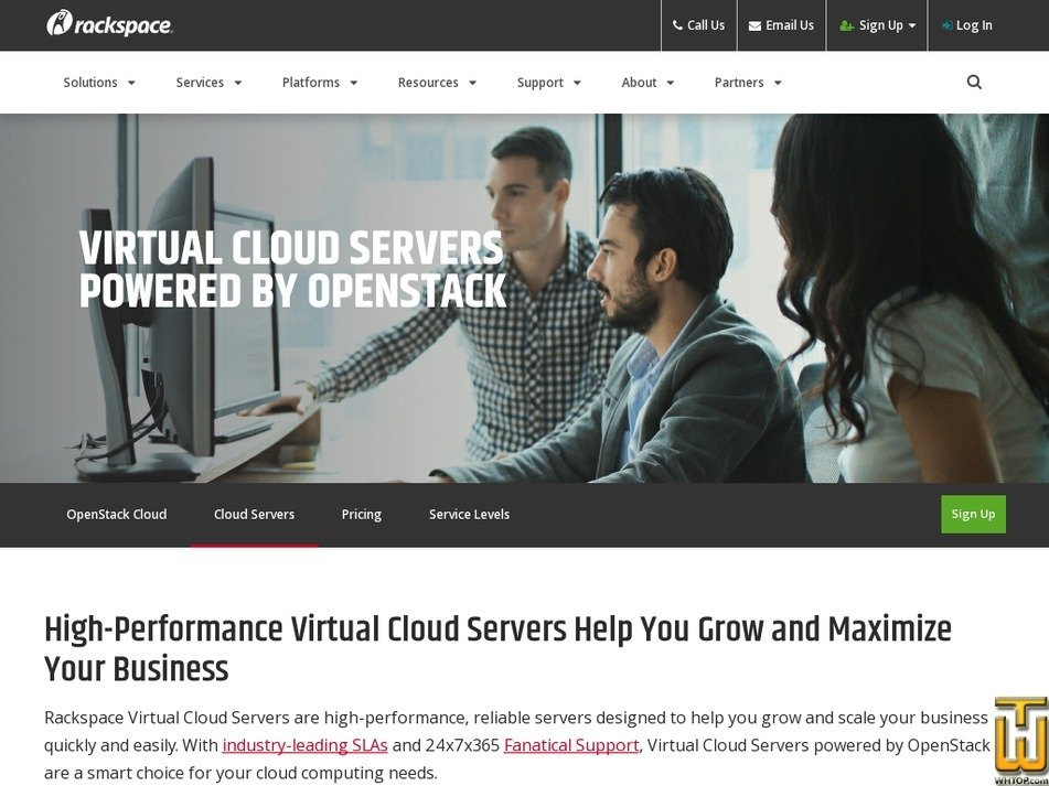 Screenshot of General1-1 from rackspace.com