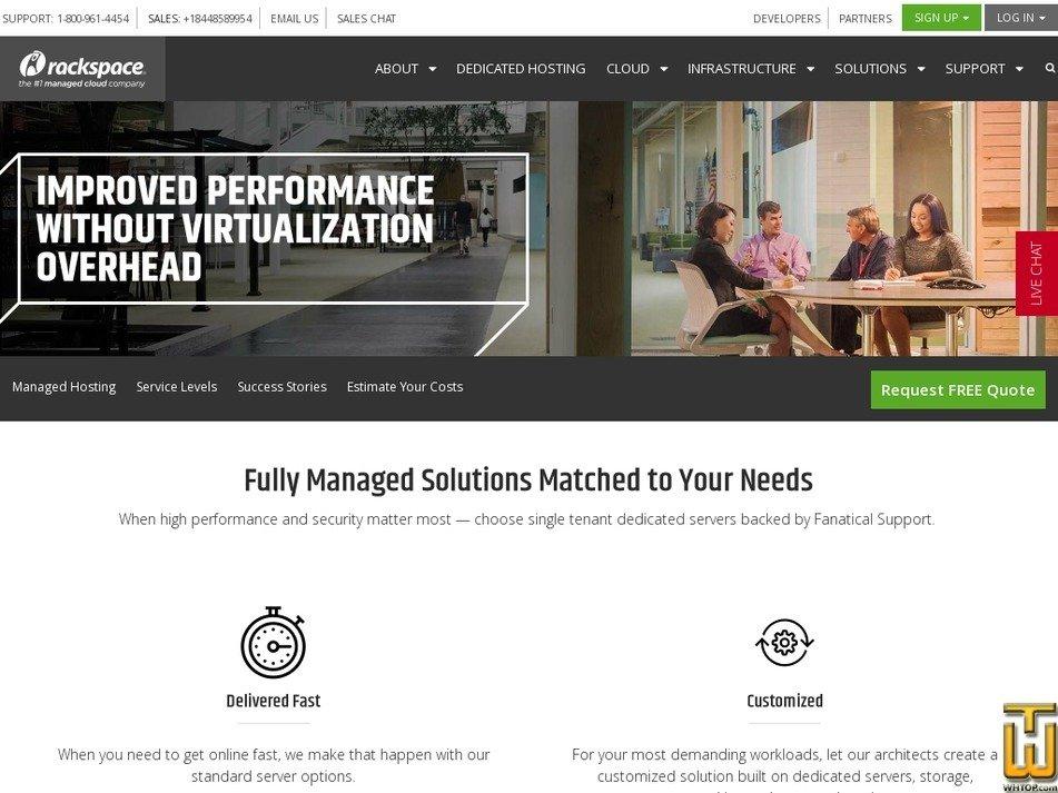 Screenshot of Dual Processor from rackspace.com