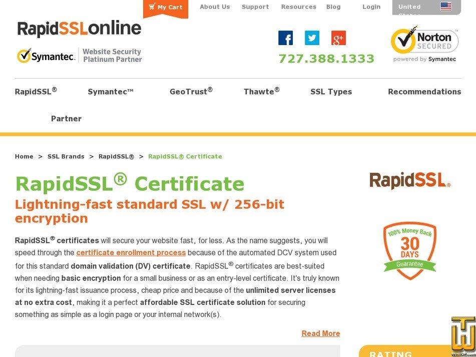 Rapidssl Certificate For 1 Year From Rapidsslonline 49980