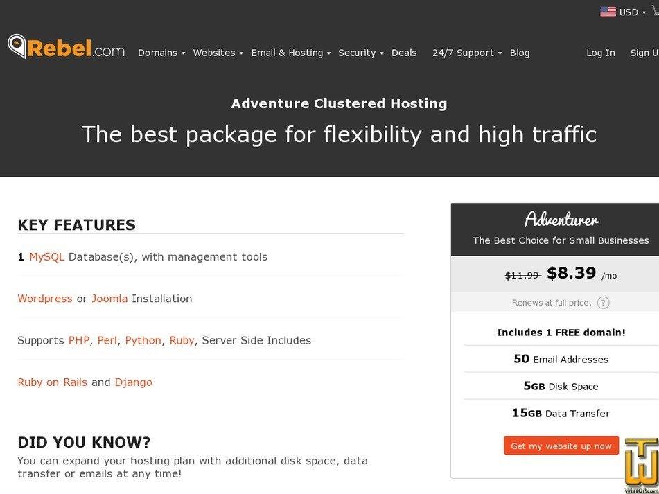 Screenshot of Adventurer from rebel.com