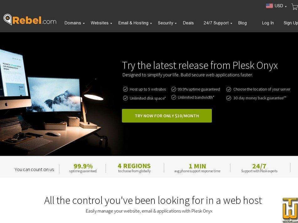 Screenshot of Full Control Hosting from rebel.com