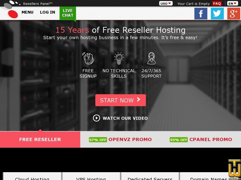 Screenshot of ATOM 1 from resellerspanel.com